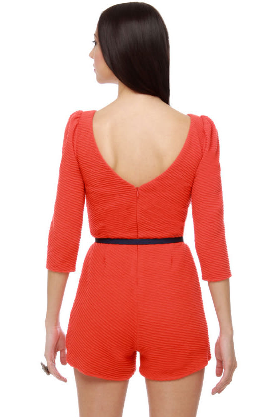 Madeleine Cookie Orange Romper