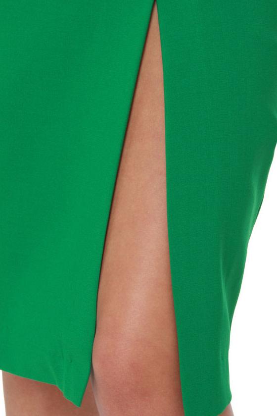 Fashion Internship Green Pencil Skirt at Lulus.com!