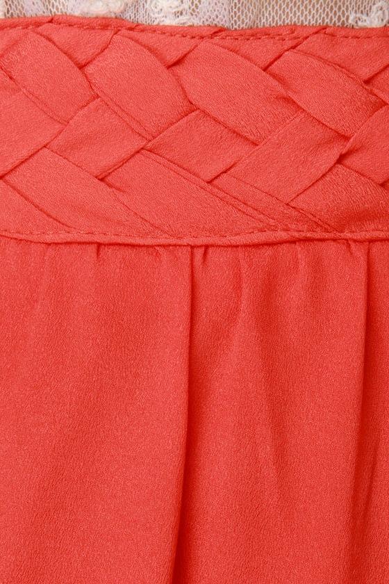 Citrus Cooler Orange Maxi Skirt