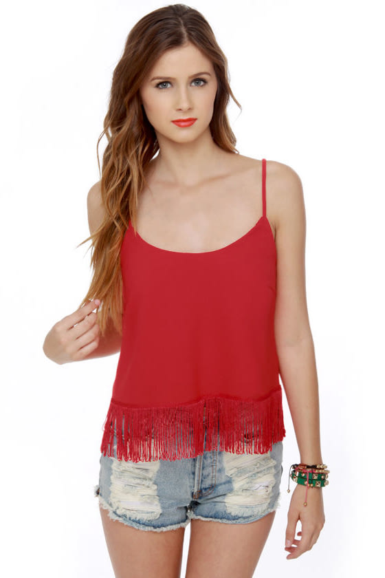 Fringe Astaire Red Tank Top