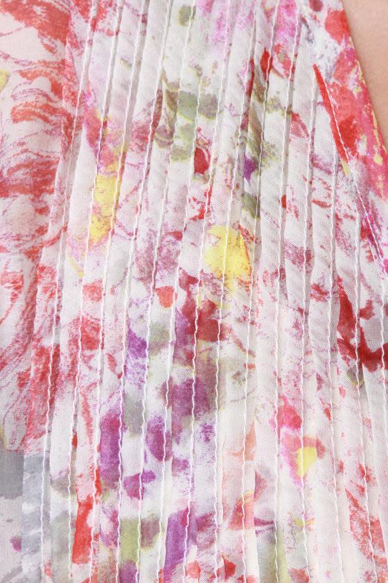 Saccharine Sketchpad Floral Print Top