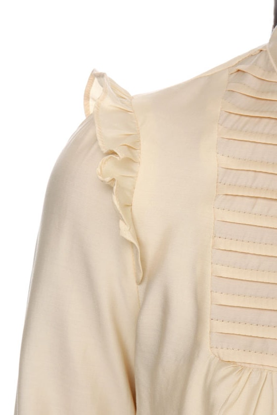 Buckingham Palace Long Sleeve Cream Top