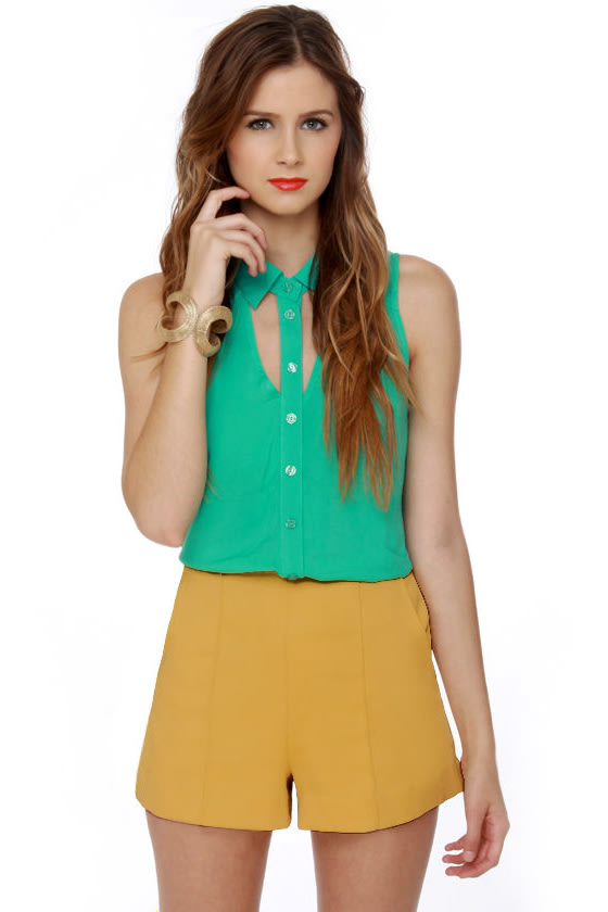Hop Skip and Jump Yellow High-Waisted Shorts at Lulus.com!