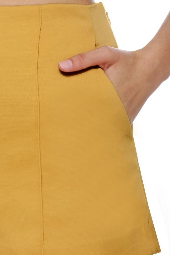 Hop Skip and Jump Yellow High-Waisted Shorts