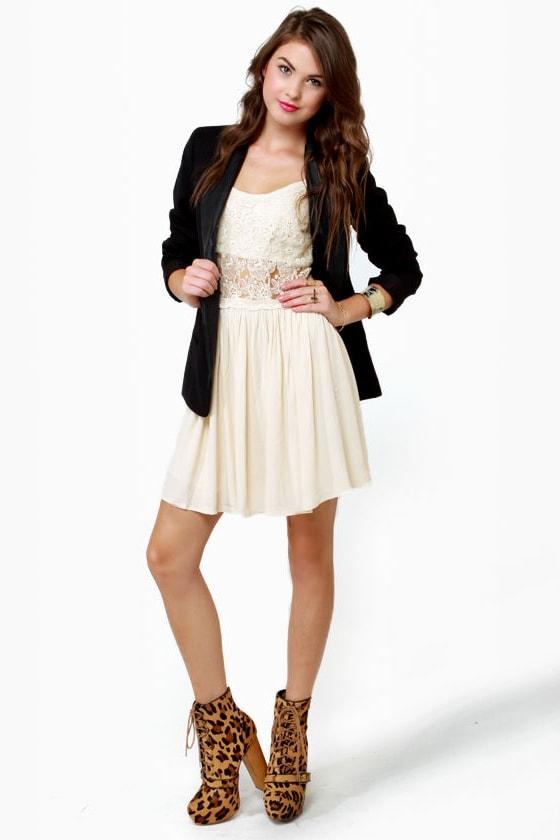 Vanilla Puddin' Cream Lace Dress