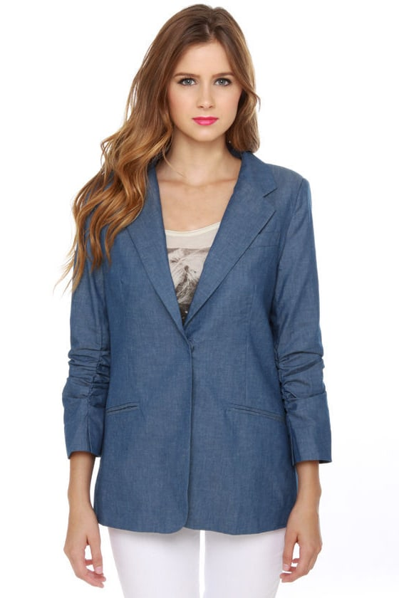 Christie Brinkley Blue Denim Blazer
