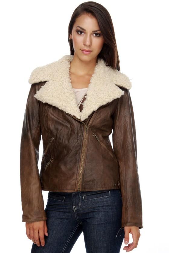 BB Dakota Hunter Brown Leather Jacket