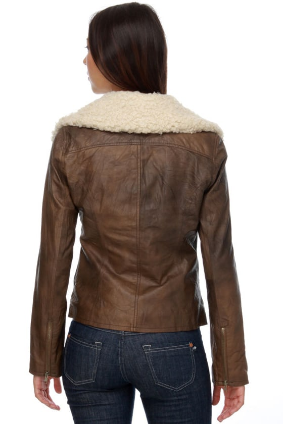 BB Dakota Hunter Brown Leather Jacket
