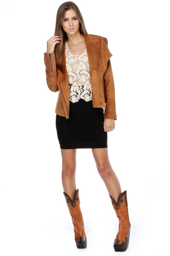 BB Dakota Alston Brown Leather Jacket