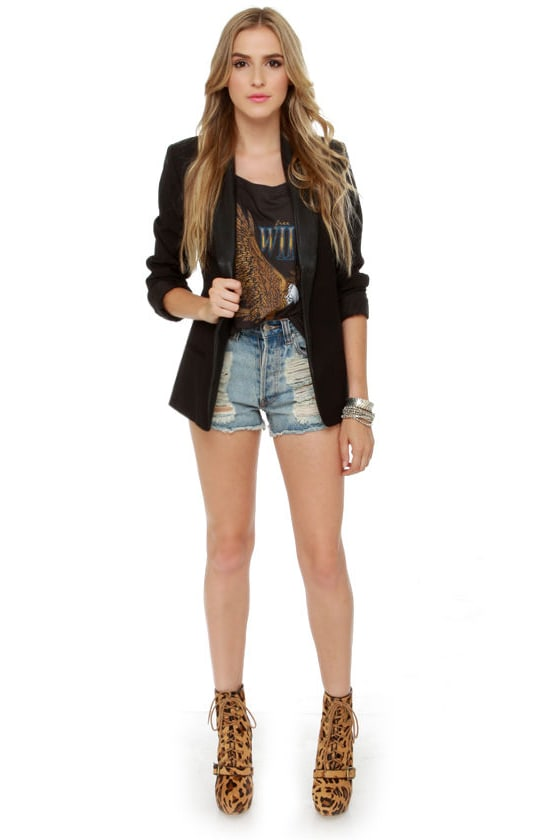 BB Dakota Zane Black Blazer
