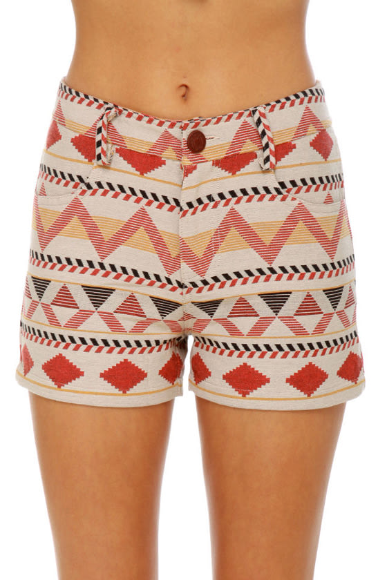 BB Dakota Hayley Southwest Print Shorts