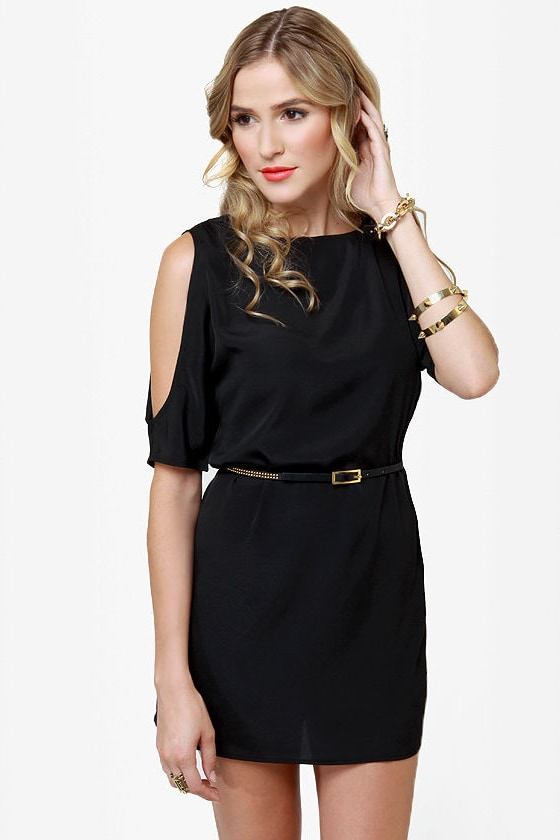 BB Dakota Hugo Black Shift Dress