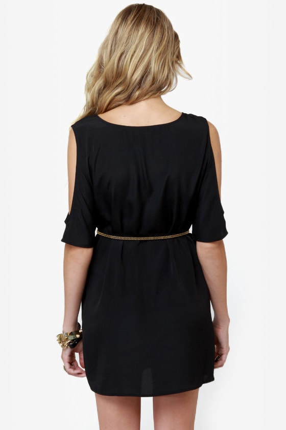 BB Dakota Hugo Black Shift Dress