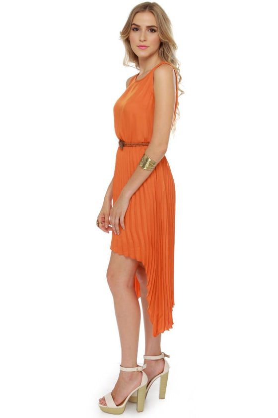 BB Dakota June High-Low Orange Dress at Lulus.com!