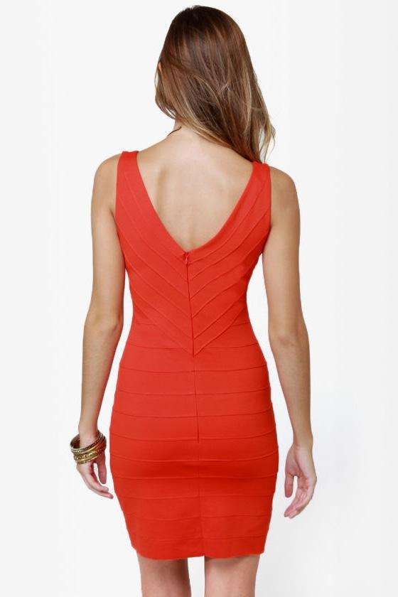 BB Dakota Hudson Orange Dress