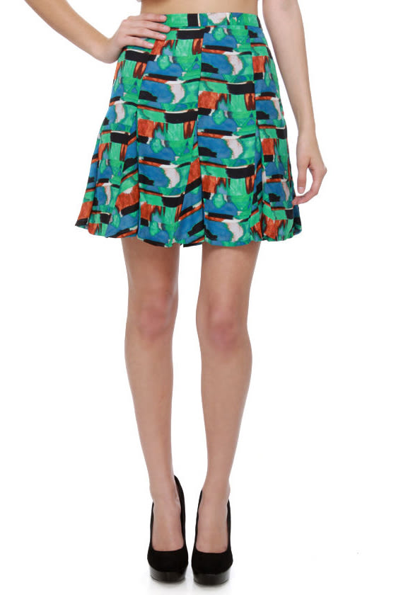 BB Dakota by Jack Medici Print Skirt
