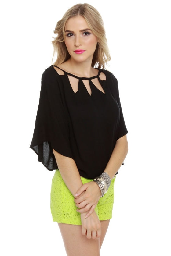 BB Dakota by Jack Sybella Cutout Black Top