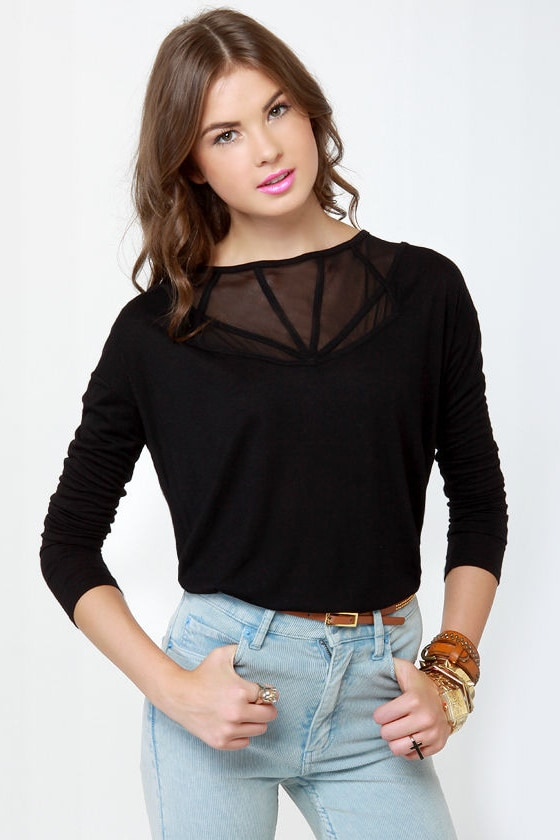 BB Dakota by Jack Zelda Black Top at Lulus.com!
