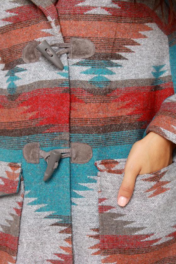BB Dakota Koa Southwest Print Coat