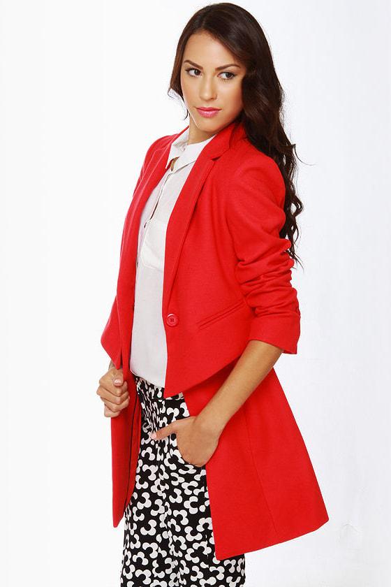 BB Dakota Rynn Coral Red Coat