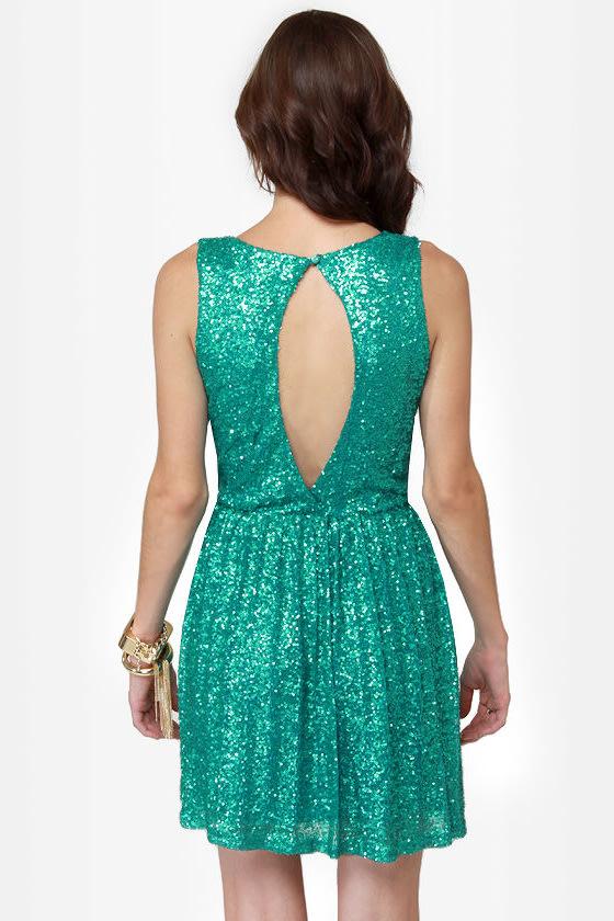Seven Sea-quins Teal Sequin Dress at Lulus.com!