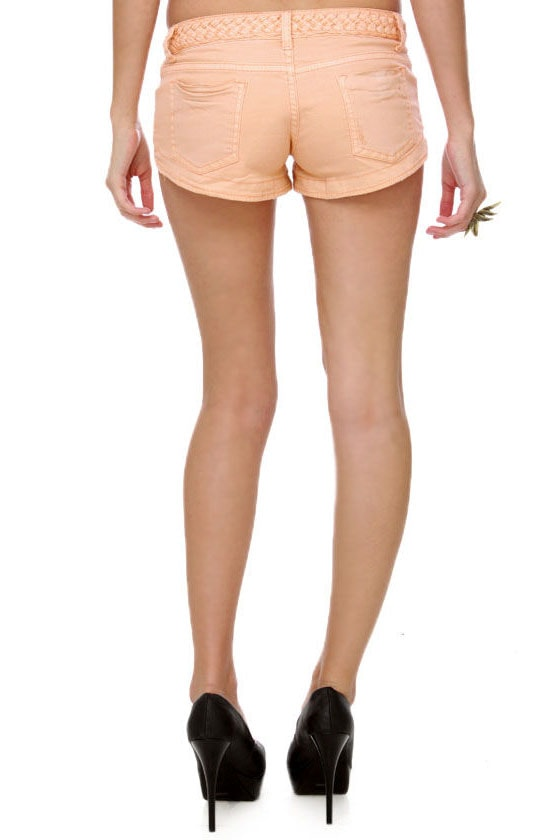 Billabong G\\\\\\\'Day Mate Peach Jean Shorts