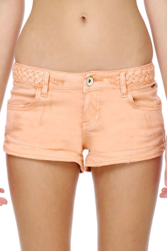 Billabong G\\\\\\\'Day Mate Peach Jean Shorts