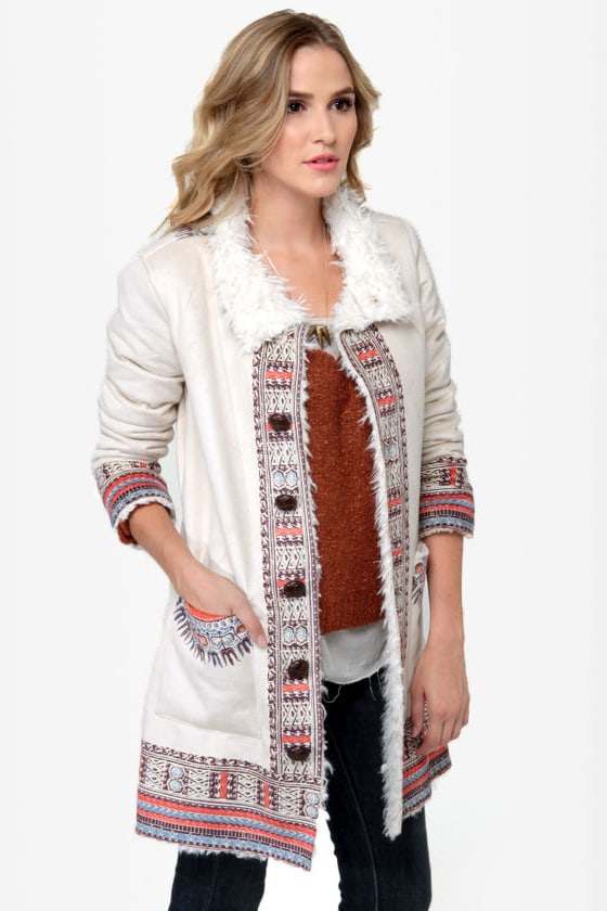 Billabong Zippora Cream Print Jacket at Lulus.com!
