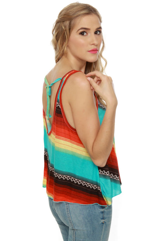 Billabong Silly Me Multi Striped Tank Top