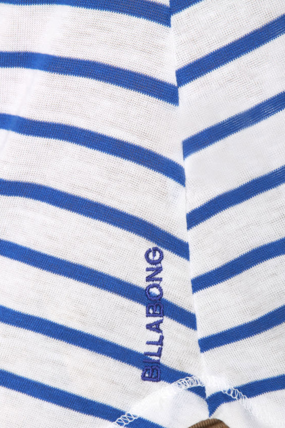 Billabong Dreaming Big Blue and White Striped Top at Lulus.com!