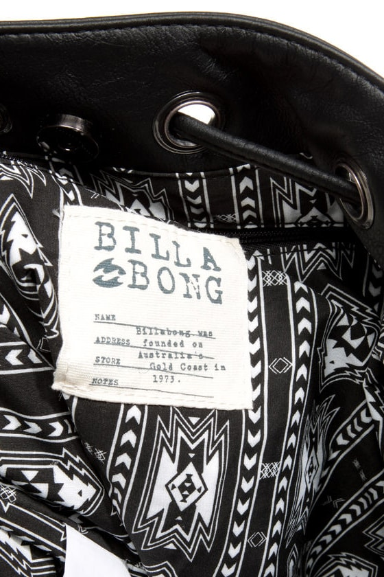 Billabong Carry Me Forever Black Fringe Purse
