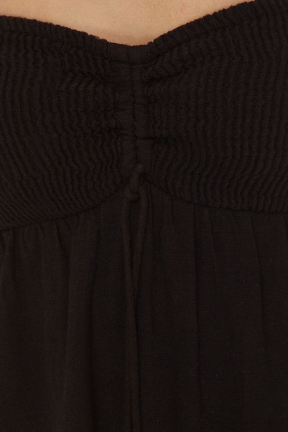Billabong Stompless Beat Black Bandeau Dress
