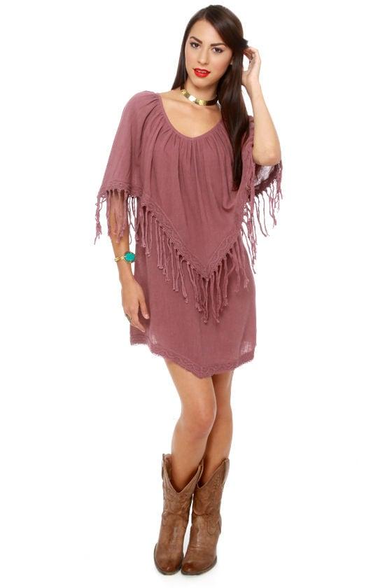 Billabong Washed Up Dress Maroon Dress Poncho Dress 5400