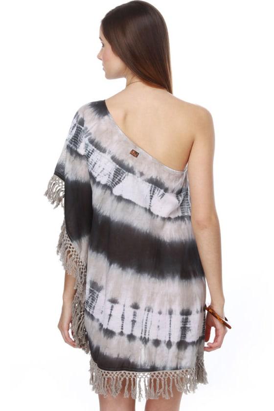 Billabong Lue Tie-Dye One Shoulder Dress