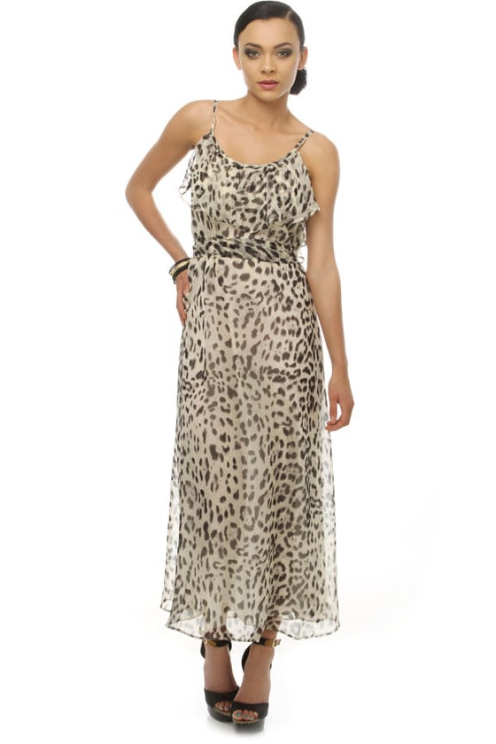 Snow Leopard Maxi Dress