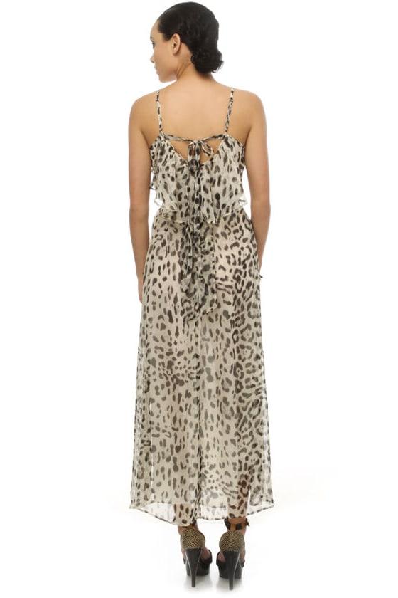Snow Leopard Maxi Dress