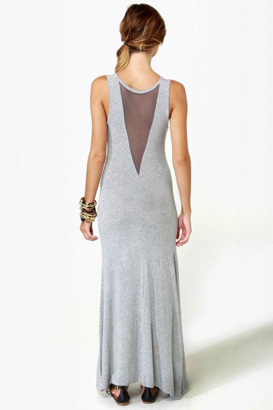 Weekend Wonder Grey Maxi Dress