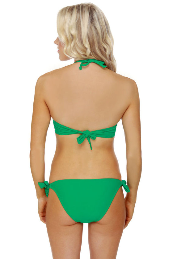 Money Honey Green Bandeau Bikini