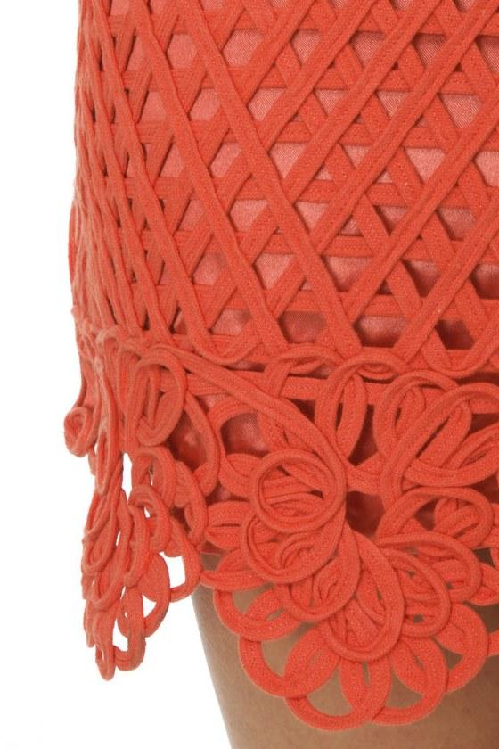 Macramé Maven Coral Dress