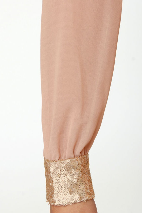 Stay the Quartz Blush Sequin Dress