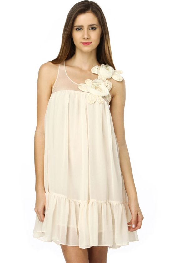 Wind in the Lilies Ivory Dress