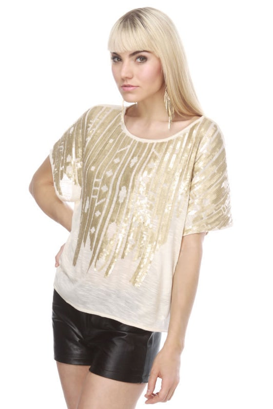 Sky Compass Sequin Top