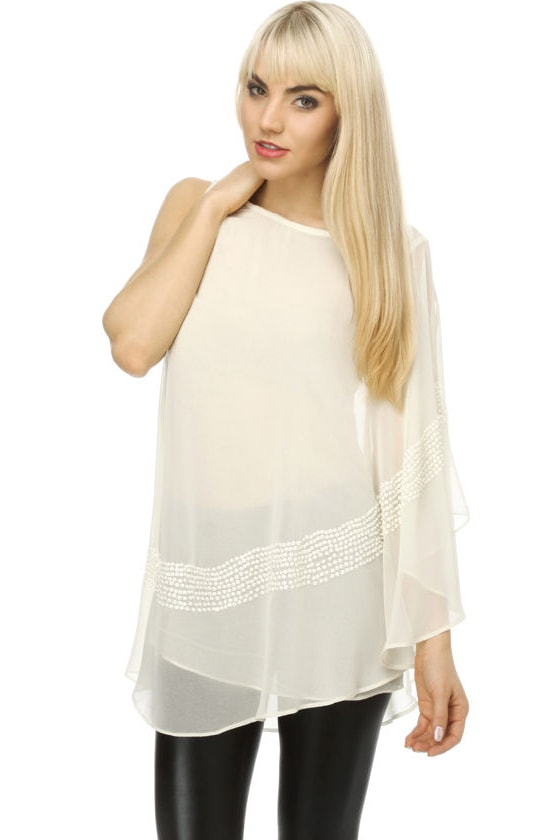 On the Road to Heaven Ivory Sequin Top