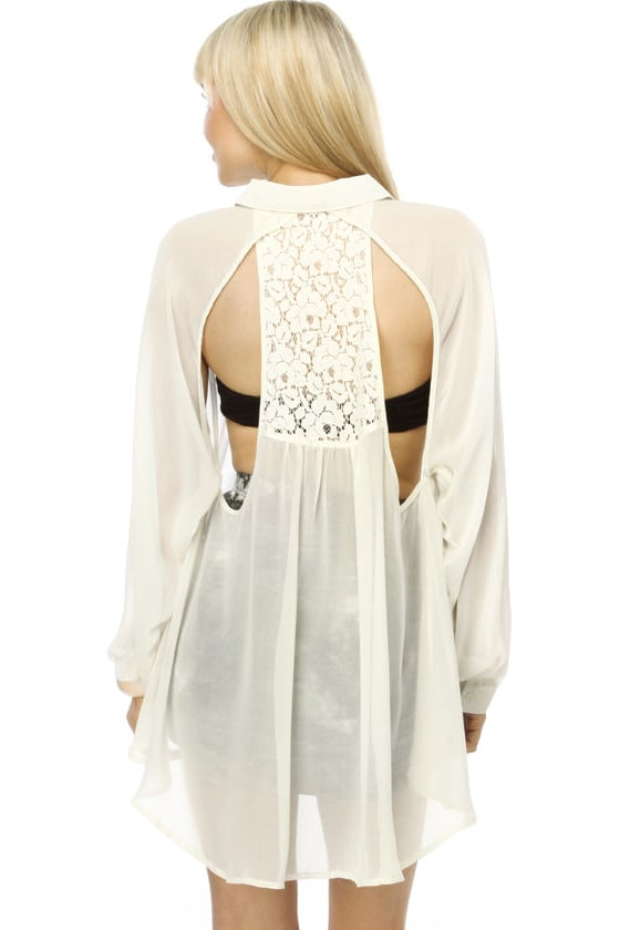 It's a Sheer Thing Cream Top
