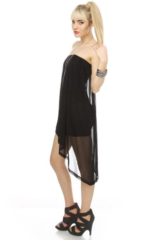 Blaque Label Euphoria Strapless Black Dress