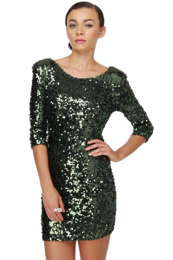 Blaque Label Supernova Green Sequin Dress