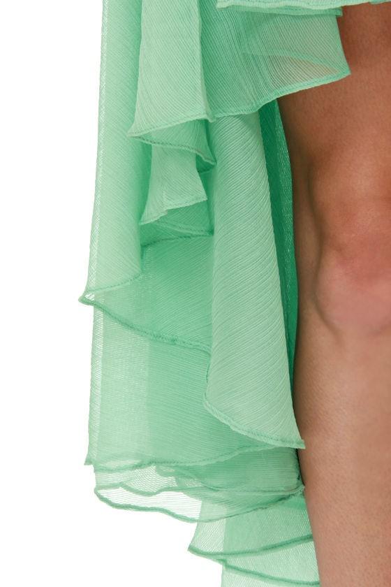 Blaque Label Aeriform Strapless Mint Green Dress