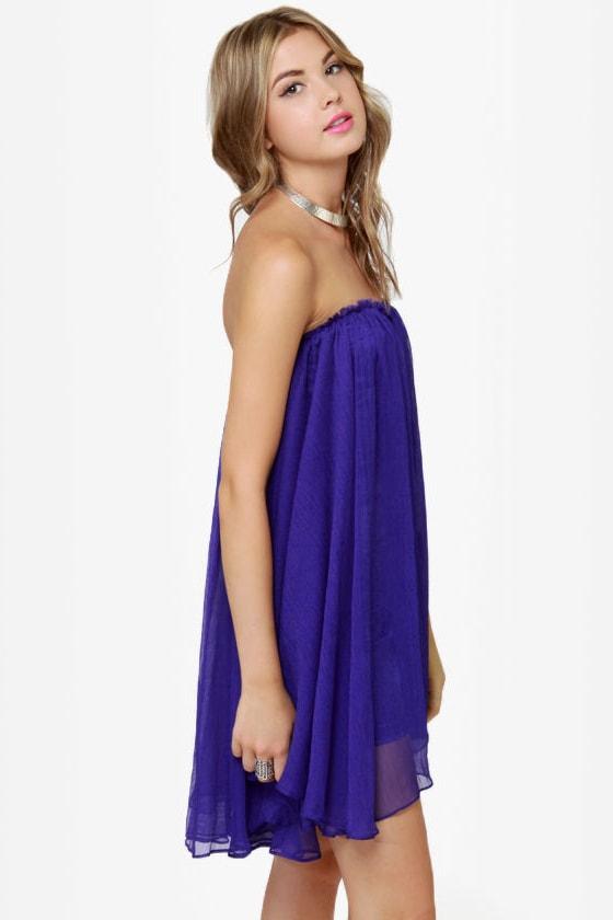 Blaque Label Anthology Strapless Royal Blue Dress