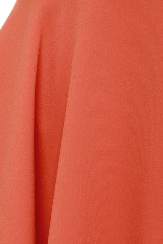 Blaque Label West Side Glory Coral Orange Dress