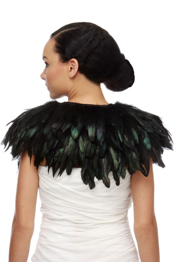 Blaque Label Raven Maven Black Feather Bolero